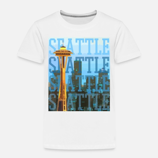 Seattle Baby Clothing - Seattle - Toddler Premium T-Shirt white