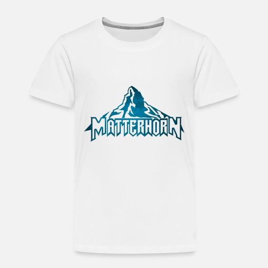 Matterhorn Baby Clothing - The Matterhorn Alps - Toddler Premium T-Shirt white