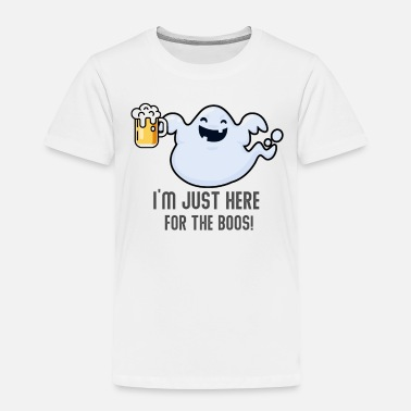 Costume I'm Just Here For The Boos Halloween Ghost - Toddler Premium T-Shirt