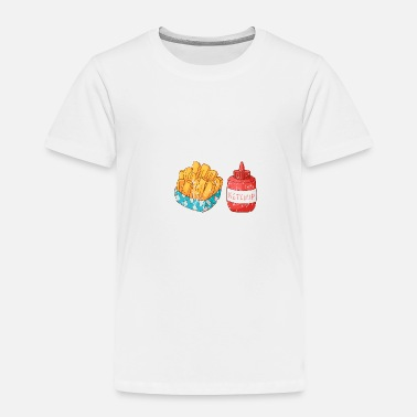 Beef Retro Vintage Grunge Style French fries Ketchup - Toddler Premium T-Shirt