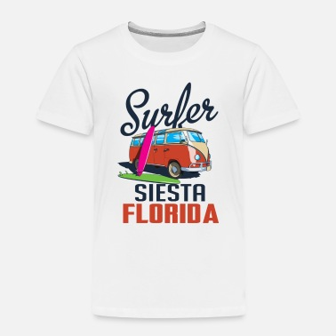 Bigfoot Surfing Siesta Florida Shirt Retro Surfer Tee Big - Toddler Premium T-Shirt