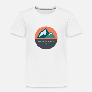 Abstract Twin Islands - Simple Abstract - Toddler Premium T-Shirt