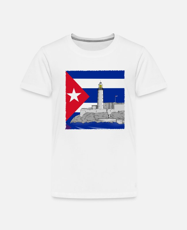 Cuba T-Shirts - Cuba Havana lighthouse - Toddler Premium T-Shirt white