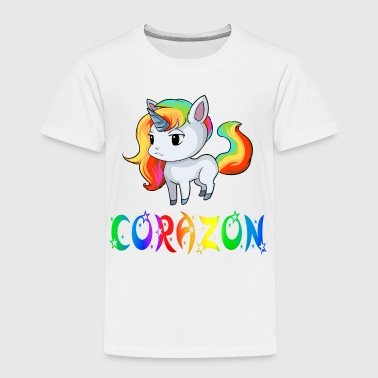 Corazon Unicorn - Toddler Premium T-Shirt