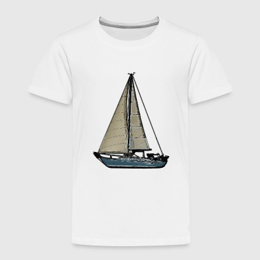 Comic Sailboat - Toddler Premium T-Shirt