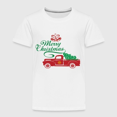 Red Truck Christmas Tree Vintage Red Pickup Truck - Toddler Premium T-Shirt