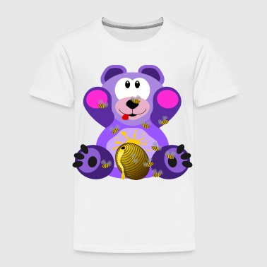 teddy bear honey bee - Toddler Premium T-Shirt