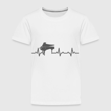 Heartbeats Piano Lover Musician Design - Toddler Premium T-Shirt