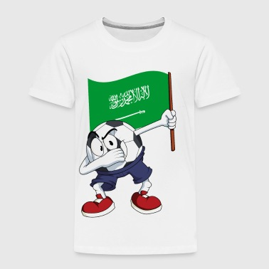 Saudi Arabia Dabbing Soccer Ball - Toddler Premium T-Shirt