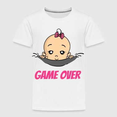 Game Over Baby Girl Pregnancy Pregnant Birth - Toddler Premium T-Shirt