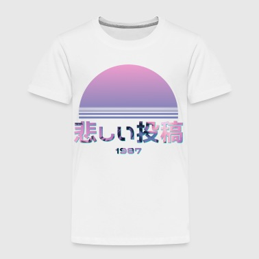 SAD POST 1987 Vaporwave tee shirts - Toddler Premium T-Shirt