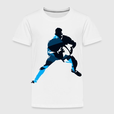 Silhouettes man rugby player sport vector image - Toddler Premium T-Shirt