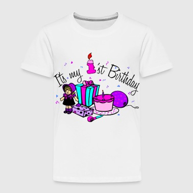 Its My 1st Birthday-girl - Toddler Premium T-Shirt
