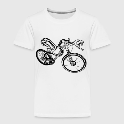 Snake Riding A Bike - Toddler Premium T-Shirt