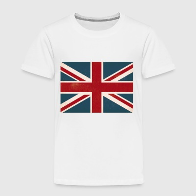 VINTAGE UNION JACK BRITISH FLAG - Toddler Premium T-Shirt