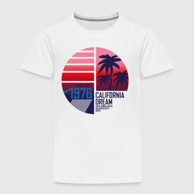 surf-rider-california-dream-santa monica-beach - Toddler Premium T-Shirt