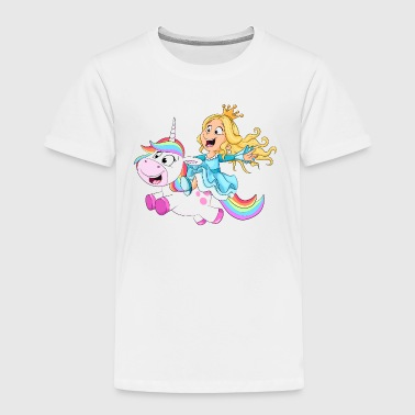 Princess riding unicorn - Toddler Premium T-Shirt