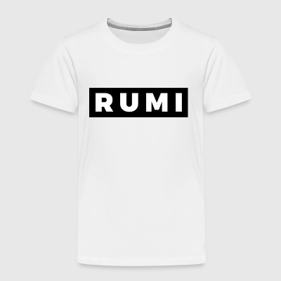Rumi (White/Black Border) - Toddler Premium T-Shirt