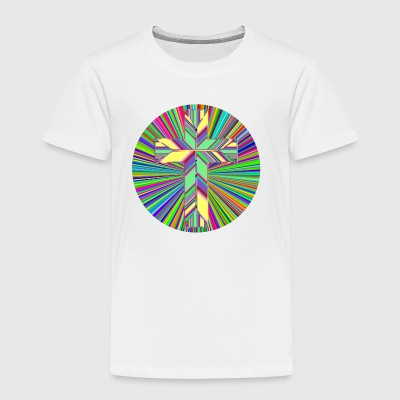 Prismatic Refractive Cross - Toddler Premium T-Shirt