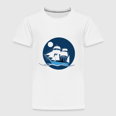 Night sailboat - Toddler Premium T-Shirt