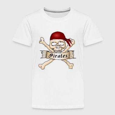pirate ship boat pirat piratenschiff schiff skull1 - Toddler Premium T-Shirt