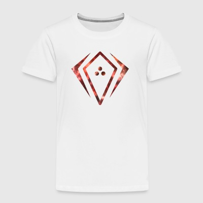 RED GALAXY EFFECT IN A SYMBOL - Toddler Premium T-Shirt