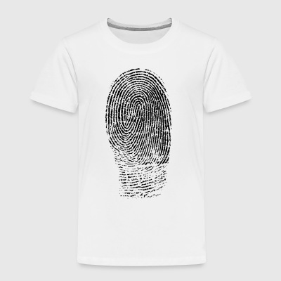 Fingerprint in Black - Toddler Premium T-Shirt