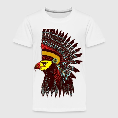 Tribal Eagle Totem with Headdress - Toddler Premium T-Shirt