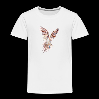 Abstract parrot wildlife bird vector drawing image - Toddler Premium T-Shirt