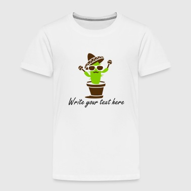 Cactus with sombrero and maracas  - Toddler Premium T-Shirt