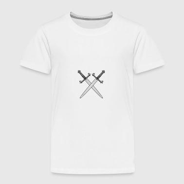 Crossed swords vector - Toddler Premium T-Shirt