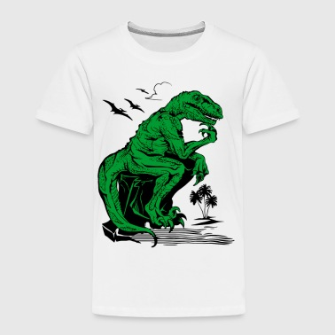 Velociraptor Philosopher - Toddler Premium T-Shirt