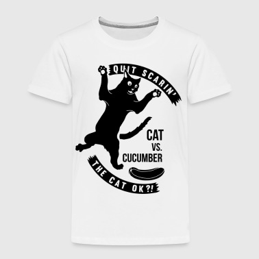 Cat Versus Cucumber - Toddler Premium T-Shirt