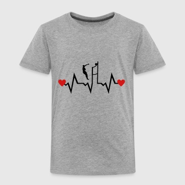 Volleyball Player & Heartbeat - Toddler Premium T-Shirt