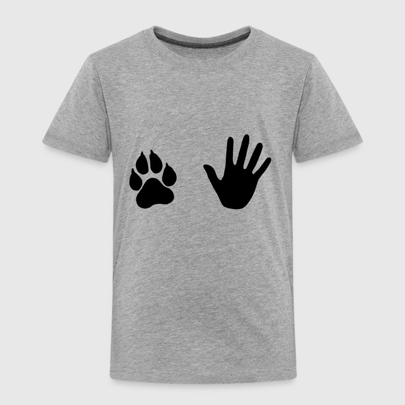 Hand and Paw, Dog and Human - Toddler Premium T-Shirt