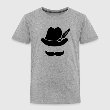 Cool Moustache (Hat) Oktoberfest Smiley - Outfit - Toddler Premium T-Shirt