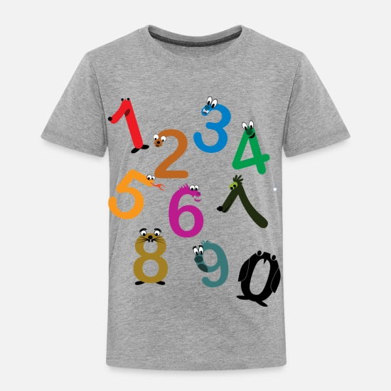 699d71db Number Baby Clothing - Kids Fun Numbers - Toddler Premium T-Shirt heather  gray