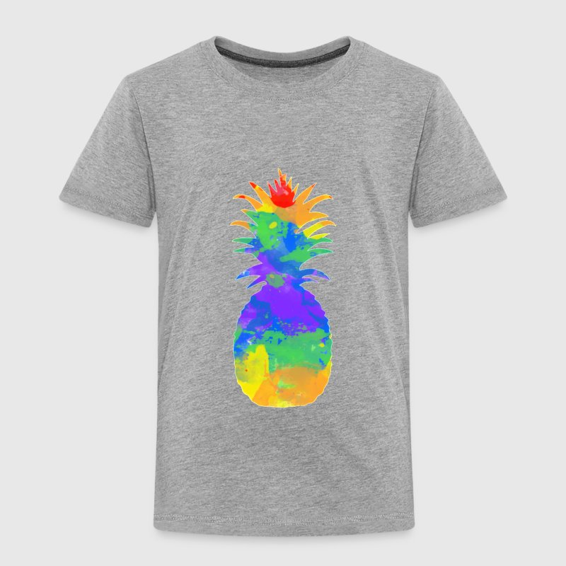 colorful-pineapple-redbubble (1).png - Toddler Premium T-Shirt