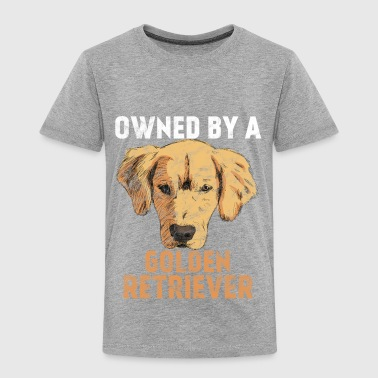 Dogs Grudge - Owned by a golden retriever - Toddler Premium T-Shirt