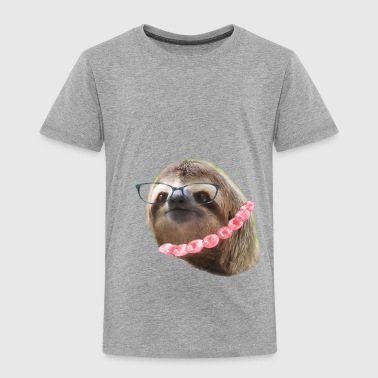 Sloth Black Glasses beads Sloths In Clothes - Toddler Premium T-Shirt