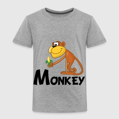 Monkey Cartoon Cartoon Monkey - Toddler Premium T-Shirt