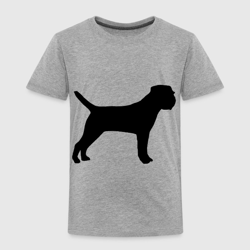 Border Terrier silo black - Toddler Premium T-Shirt