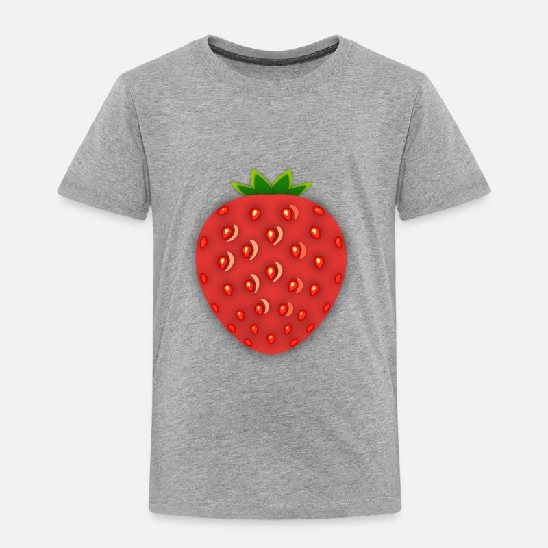 Strawberry Baby Clothing - Strawberry Patch - Toddler Premium T-Shirt heather gray
