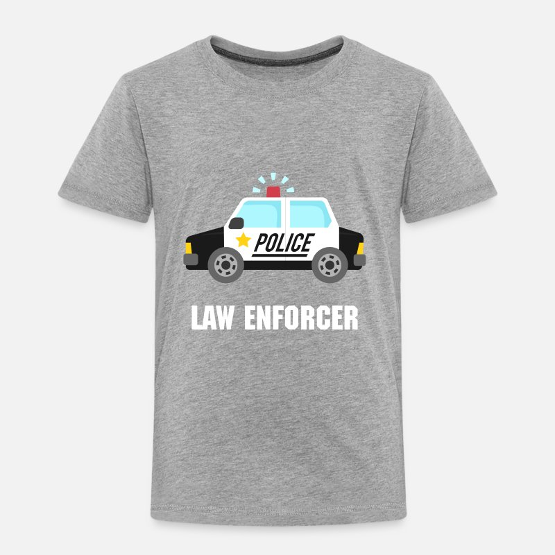 Police Baby Clothing - police car classic - Toddler Premium T-Shirt heather gray