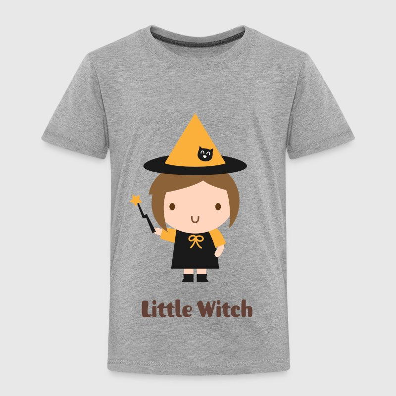 cute little girl witch - Toddler Premium T-Shirt