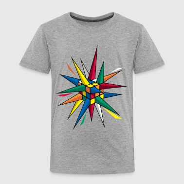 Rubik's Cube Colourful Spikes - Toddler Premium T-Shirt