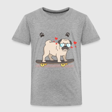 Cool Pug Modern pug with cool elements - Toddler Premium T-Shirt