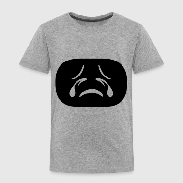 black face head sad cry cry tears unhappy depresse - Toddler Premium T-Shirt