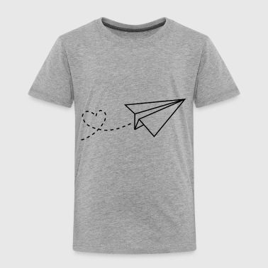 Heart paper plane - Toddler Premium T-Shirt