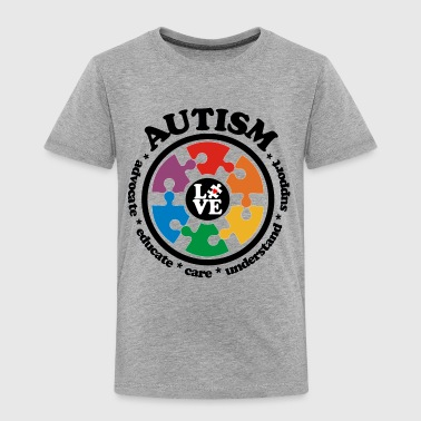 LOVE Autism Awareness - Toddler Premium T-Shirt